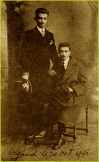 Sadeq Hedayat with one of his relatives
